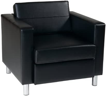Best OSP Home Furnishings Pacific Arm Chair, Black