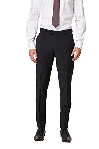 ESPRIT Collection Herren 998EO2B800 Anzughose, Schwarz (Black 001), 44