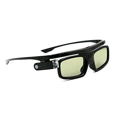 3D Gafas, Cocar Obturador Activo Recargables 3D Gafas, Universales para Todos los proyectores 3D DLP-Link Acer BenQ Optoma Viewsonic Philips LG Infocus NEC Jmgo Vivitek Cocar Toumei - Paquete de 1