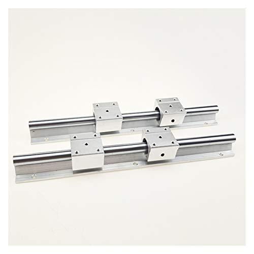 Guías de movimiento lineal 2 unids SBR12 300 400 500 600 800 1000 1200 1300 1500mm Barra de deslizamiento lineal totalmente compatible con el eje de deslizamiento con 4pcs SBR12UU Bloque de rodamiento