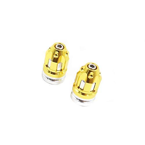 2 piezas Tapas de válvulas de neumáticos de automóviles,Acero inoxidable universal Tapones De Válvula De Neumático para coches SUV camión motocicleta bicicletas
