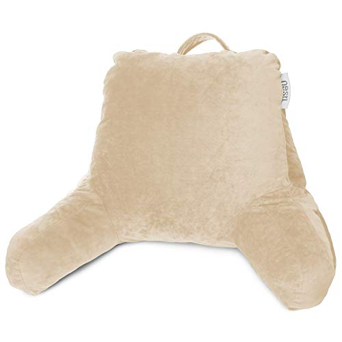 Nestl Bedding Reading Pillow, Medium Back Pillow, Backrest Pillows for Bed with Arms, Shredded...