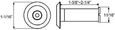 Nuk3y 220 Degree Wide Angle Heavy Duty Door Viewer (1 Pack, Satin Nickel)