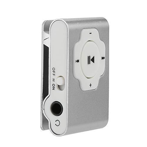 MP3 Player, Tuscom Mini Portable USB MP3 Player Support Micro SD TF Card 32GB, Clip Music Player, MP4 Player, Video/Media/Music Player for Sport and Music Lovers (Silver)
