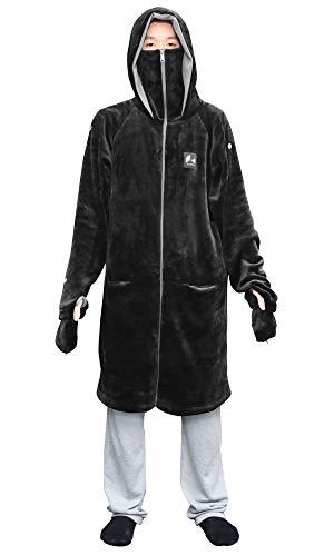 Bauhutte(バウヒュッテ) ゲーミング着る毛布 ダメ着4G LITE ブラック XLサイズ HFD-4LT-XL-BK