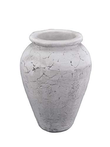Gartendekoparadies.de Massive grote Amfore plantenbak vaas van gegoten steen, vorstbestendig