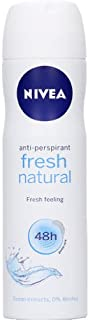 Nivea Fresh Natural Fresh Feeling Antiperspirant 48H Ocean Extracts 150 mL with Ayur freebie in combo