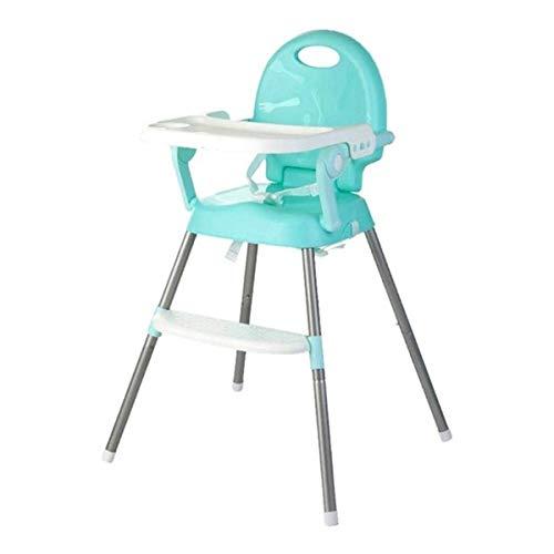 ベビー椅子 3WAY 調節可能 昇降機能付き 多機能子供チェア 折りたたみ お食事椅子 椅子に固定 携帯便利 外出 外食 高品質 お持ち便利 子供用品 0-6歳 (緑)