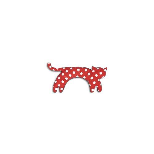 Wärmekissen, Die Katze Minina, groß. Fellfarbe: Polka dot rot/Mitternacht
