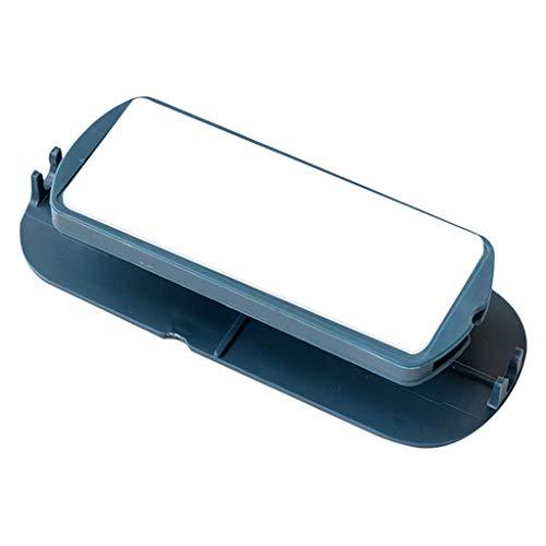 MagiDeal Fijación de banda de alimentación autoadhesiva montaje en pared soporte de fijación de Cable sin punzón para caja de tejido Router WiFi de - Azul oscuro