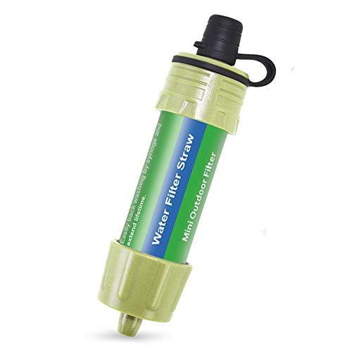 Lixada Filtro de Água Canudo com 5000L de Filtragem 0,01 Micron Purificador Equipamento de Sobrevivência para Caminhadas, Acampamento, Viagem, Emergência