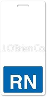 RN Registered Nurse Vertical Hospital ID Badge Buddy Blue