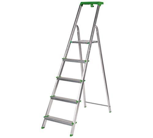 Escalera Tijera c/Bandeja Superior Multifuncional (5 Peldaños). BTF-TJL205