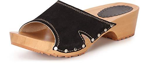 Ladeheid Zuecos de Madera Crocs Sandalias Chanclas Zapatos Verano Mujer LAFA085 (Negro, 39 EU)