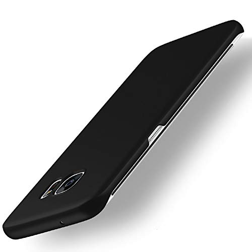 Galaxy S6 Edge Case, ACMBO Ultrathin Micro Matte [Skin Touch Feel] Anti-Fingerprints Non-Slip No-Fade Shockproof PC Phone Case Cover for Samsung Galaxy S6 Edge G9250 G925F G925A G925V G925M, Black