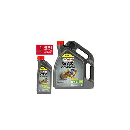 Castrol - Olio motore GTX 10W40-5 litri + 1 litro