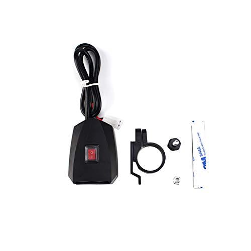 Cargador de coche Meipai, 10 V-80 V, resistente al agua, para bicicleta, motocicleta, manillar, cargador USB doble, adaptador de corriente, con interruptor de encendido y apagado, para teléfono móvil,