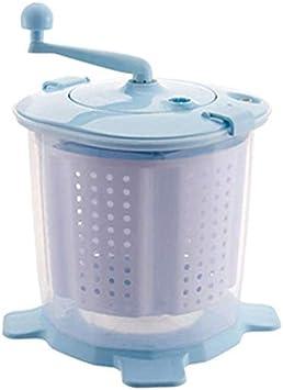 LIRONGXILY Lavadora Portatil Mano portátil Manual Manual Lavadora No eléctrica Diseño Compacto Secadora de Ropa Encimera Lavadora para Acampar, Apartamentos (Color : Blue)