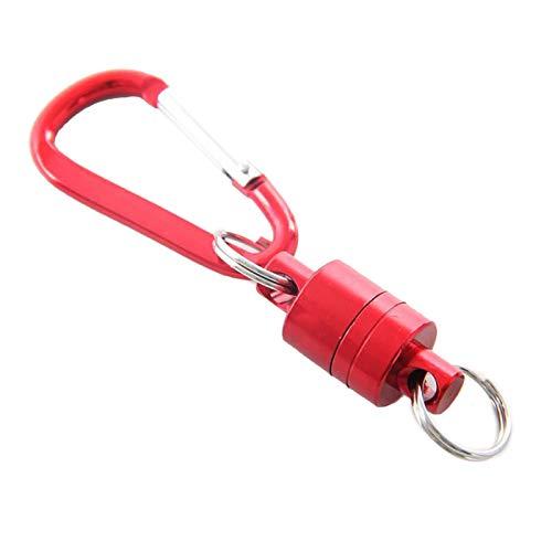 Kalaokei Bergsteigen Kabellose verpasste Seil-Magnetschnalle, Outdoor, Angeln, Aluminium-Legierung, tragbar, magnetisch, Karabiner, Schlüsselband, Clip, Rot