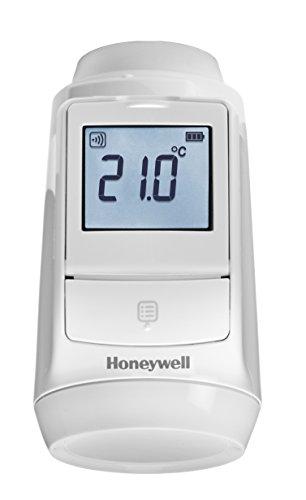 Honeywell Home THR092HRT evohome Tête thermostatique de radiateur sans fil pour système evohome, Europe, blanc (1 pièce)