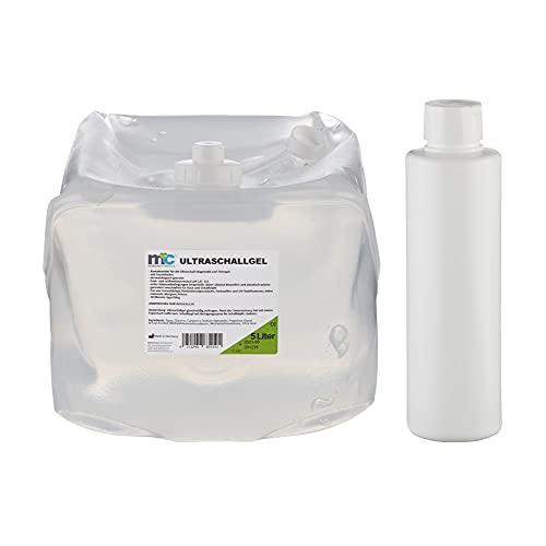 Garrafa de gel de ultrasonidos y botella vacía (5 kg) de Medicalcorner24
