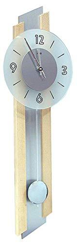 AMS Quarz-Pendeluhr, Holz, Mehrfarbig, 73 x 31 x 18 cm