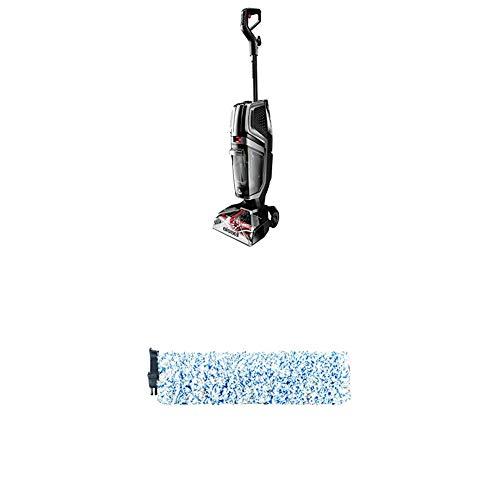 Bissell 2571N HydroWave Teppichreinigungsgerät, Plastic, 2.3 liters + Hartboden-Bürstenwalze | Original Zubehör für HydroWave 2571N | 28621, Weiß/Blau, 1