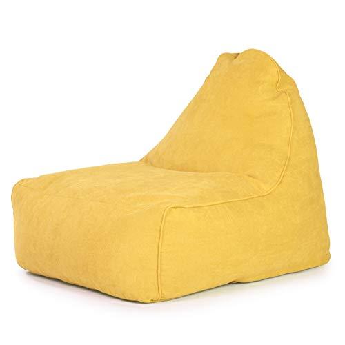 Comodo Divano a Sacco Sacchetto di Fagioli Bazaar Pannelli Classici Bag Classica Sedia Sedia Resistente all'Acqua Beanbags Regalo (Colore : Imperial Yellow, Size : One Size)
