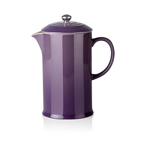 Le Creuset Cafetera de Émbolo en Acero Inoxidable, Violeta, 800 ml