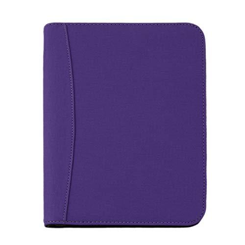 Konferenzmappe mit Taschenrechner, nachfüllbar, mit Reißverschluss, A5-Format A5 violett