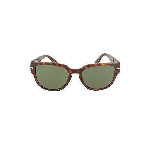 Persol Herren 0PO3231S Sonnenbrille, Havana/Green, 54