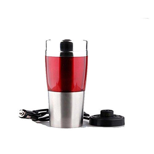 Ruirui-en Acier Inoxydable-Voiture électrique Tasse, Tasse électrique Automatique, Bouteille Isotherme, Tasse de Voyage, Red