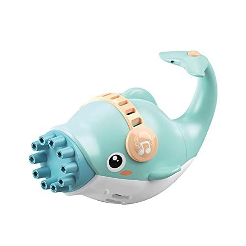 Aznever - Máquina automática de Burbujas de Delfines de 10 Agujeros, soplador de Burbujas eléctrico, Juguete para Hacer Burbujas con Modo de Ventilador frío para niños pequeños de 3 años + niños