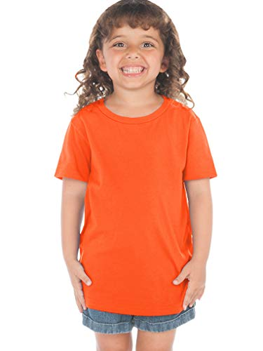 Kavio! Toddlers Crew Neck Short Sleeve Tee (Same TJP0494) Varsity Orange 2T