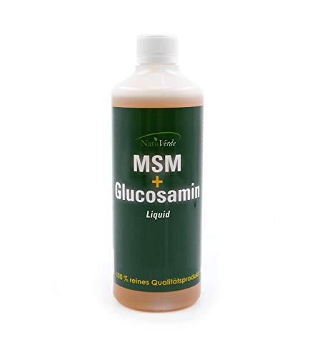 NatuVerde MSM + Glucosamin Liquid, 500 ml, für Hunde, Katzen und Pferde