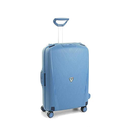 Roncato Light Trolley Medio - 4 Ruote, 68 Cm, 80 Litri, Blu Avio