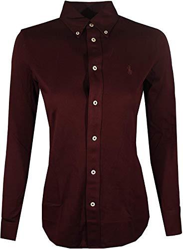 Polo Ralph Lauren Damen Knit Oxford Shirt - Rot - Klein