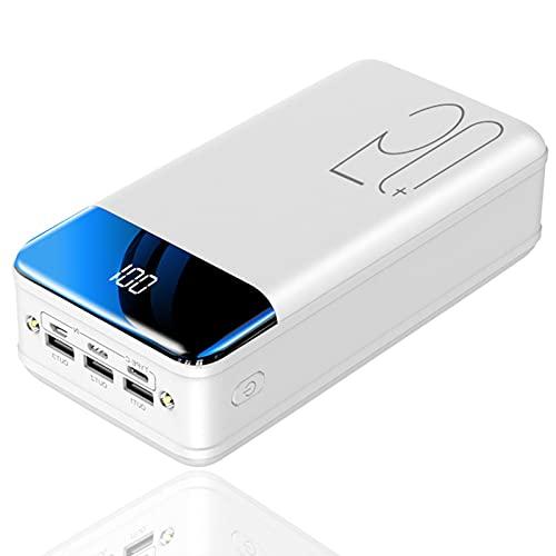 Batería Externa 50000mAh, USB C Power Bank con 3 Entradas y 3 Salidas y Pantalla LCD y Linterna LED, Cargador Portátil para iPhone, Huawei, Samsung, iPad, Teléfonos, Tabletas y más