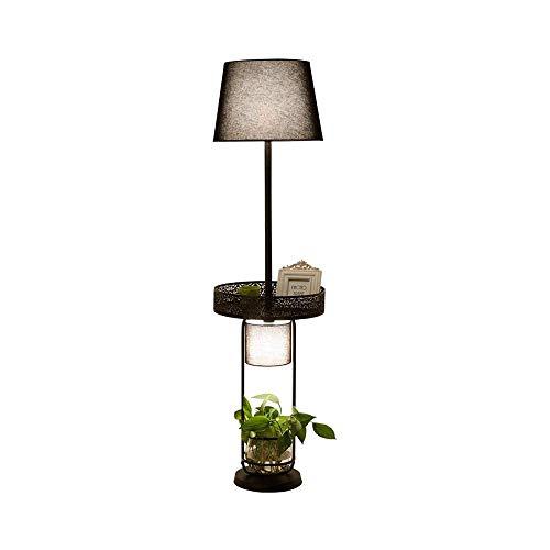 SXRKRZLB Decoración nórdica Hierro Retro Lámpara de American Country Living Dormitorio Sala de Estudio Chino Lámpara de Piso de la Planta