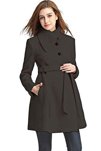 Momo Maternity Outerwear Women's Cindy Wool Trench Coat Pregnancy Winter Jacket