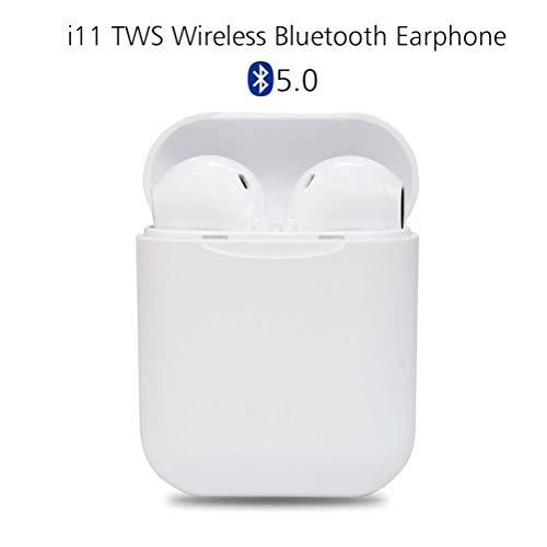 Auriculares inalámbricos Bluetooth 5.0,Control táctil, micrófono Incorporado y Caja de Carga, reducción de Ruido estéreo 3D HD,adecuados para Auriculares Android/iPhone/AirPods/Samsung