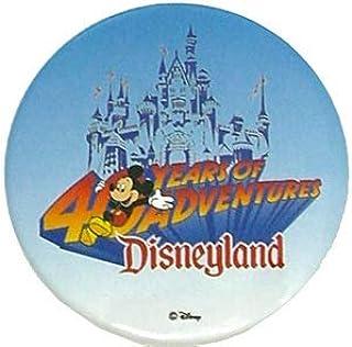 カリフォルニアディズニーランド 40周年記念 缶バッジ