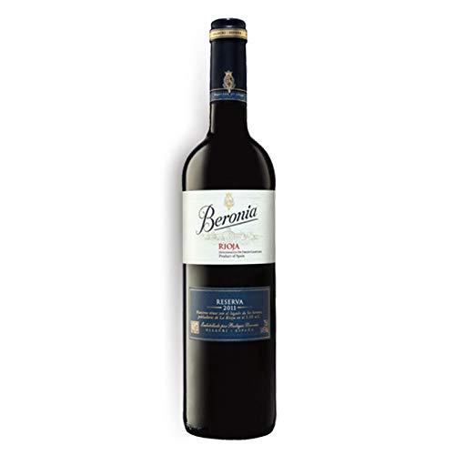 Vino tinto Beronia Reserva de 75 cl - D.O. La Rioja - Bodegas Gonzalez Byass (Pack de 1 botella)