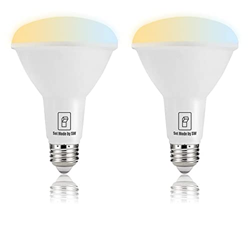 Bubo Smart Bulb, Scene Switch Color Change Light Bulb, Soft White|Bright White|Daylight 3 Color, Wall Switch On/Off Control for Relaxing,Dinner and Reading,CRI90,900lm,E26,BR30,2Pack