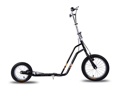 Youpin Big Air Wheel Scooter de altura ajustable, plegable, para adultos, al aire libre, ruedas inflables (color: negro)