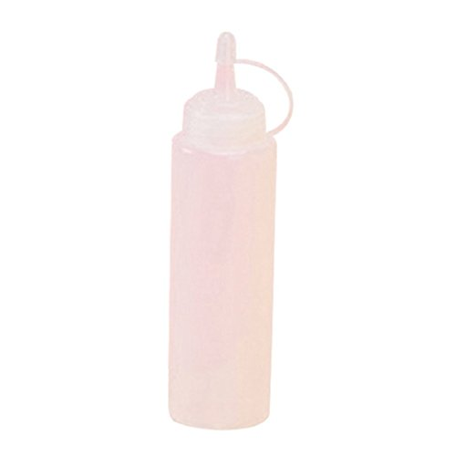 Mentin 250/ML Transparente pl/ástico Botella de Salsa condimentos dispensador Ketchup Mostaza Botella de compresi/ón Livraison Aleatorio