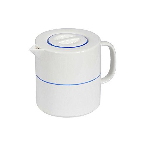 Tranquillo Teekanne, Kanne aus Porzellan mit abnehmbarem Deckel - Teegenuss mit Stil, 14 x 15 x 14,5 cm