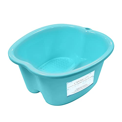 Ownest Foot Bath Spa,Water Spa and Foot Massage, Sturdy Plastic Foot Basin for Soaking Foot,Toe Nails, and Ankles,Pedicure,Portable Foot Tub-Light Blue
