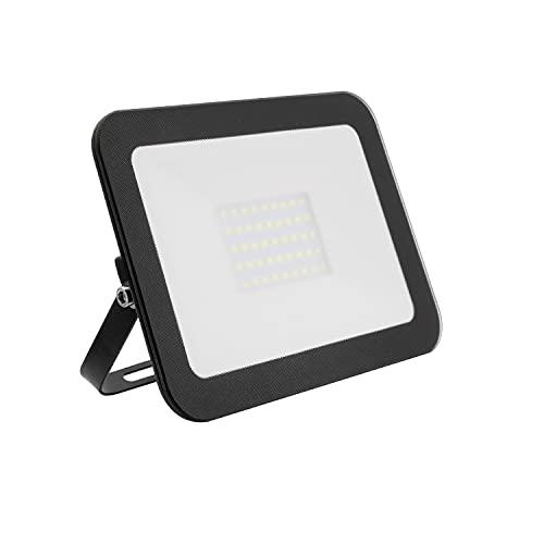DK Multitec - Proiettore LED 30watt Nero SLIM IP65 Illuminazione parchi giardini terrazze garage Faretto da esterno (K4000)
