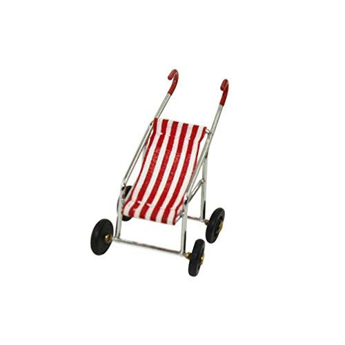 PULABO - Muebles para casa de muñecas en miniatura, cochecito de bebé, modelo para niños, juguete de regalo práctico y PopularSafety